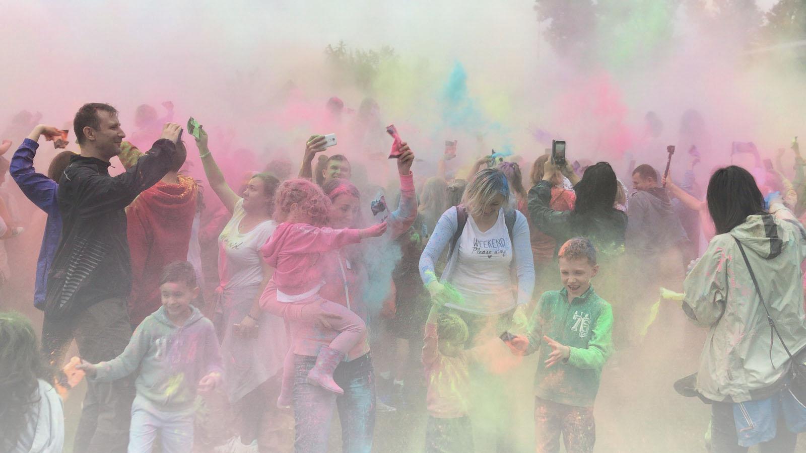Impreza plenerowa - Festiwal Kolorów w Warszawie