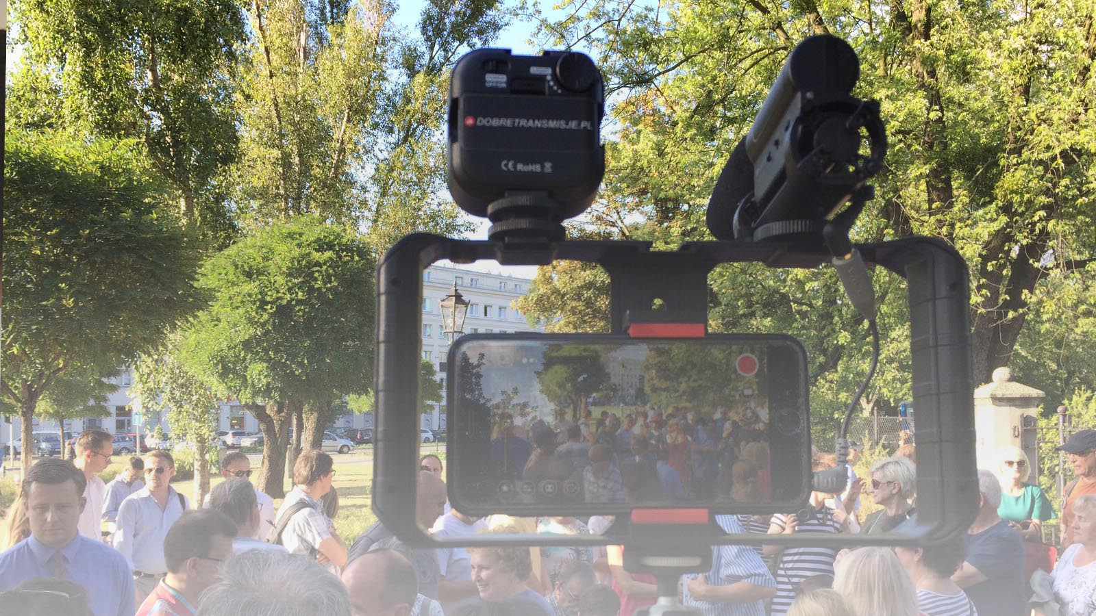 Transmisja online ze spotkania wyborczego w Warszawie