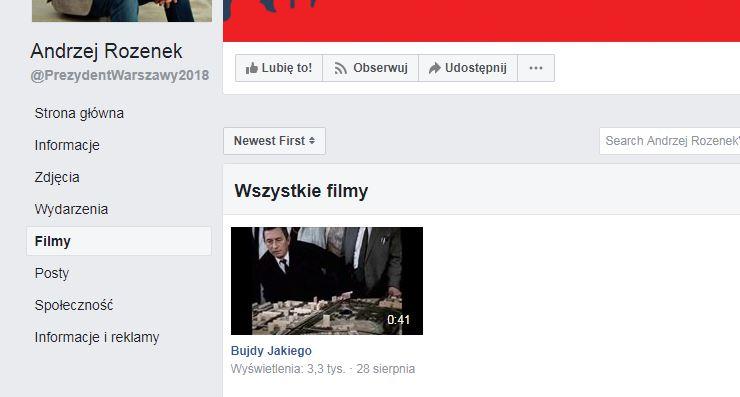 Strona na Facebooku - brak transmisji