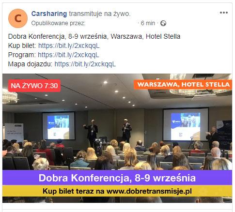 Transmisja online fragmentu konferencji