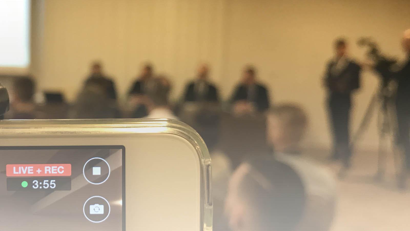 Konferencja prasowa - kamery