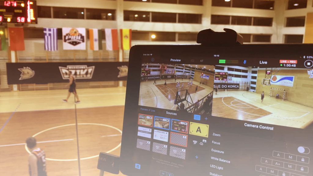 Transmisja z meczu koszykówki Dziki Warszawa
